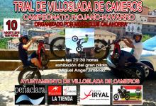 10 AGOSTO TRIAL VILLOSLADA DE CAMEROS Y 20:30H EXHIBICION M.A.JIMENEZ
